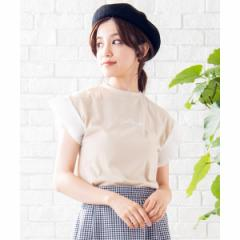 【NEW】ウィゴー(レディース)(WEGO)/プリーツスリーブ刺繍Tシャツ