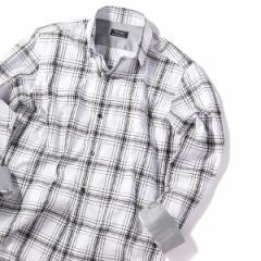 メンズビギ(MEN'S BIGI)/レオパードジャカードタータンチェックシャツ【ウォッシャブル仕様】