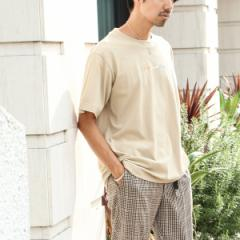 コーエン(メンズ)(coen)/フロントカラー刺繍Tシャツ