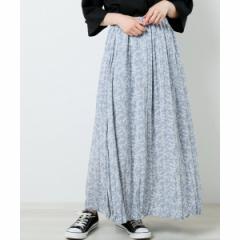 レイカズン(RAY CASSIN)/クリンクルプリーツ花柄スカート