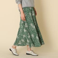 クチュールブローチ(Couture Brooch)/【WEB限定サイズ(LL)あり手洗い可】小花プリントロングスカ−ト