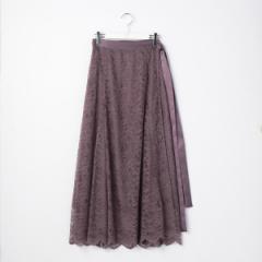 ノーリーズ レディース(NOLLEY'S)/ウォッシャブルレースラップスカート