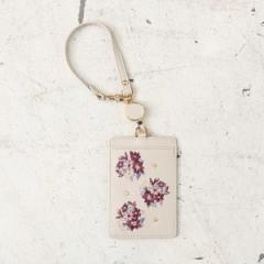 コクーニスト(Cocoonist)/フォギーフラワー刺繍コードリール付きパスケース