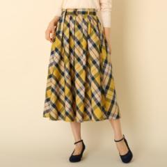 クチュールブローチ(Couture Brooch)/【WEB限定サイズ(S・LL)あり手洗い可】先染チェックフレアスカート
