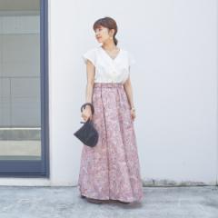 エメル リファインズ(EMMEL REFINES)/SMF ペイズリープリント ギャザースカート