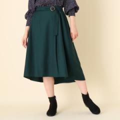 クチュールブローチ(Couture Brooch)/【WEB限定プライス手洗い可】ソフトツイル後さがりスカート