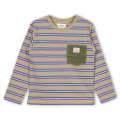 ブランシェス(branshes)/ポケット付ボーダー長袖Tシャツ