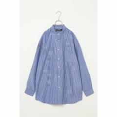 ヴァンスエクスチェンジ メンズ(VENCE EXCHANGE)/オーバーサイズバンドカラーシャツ