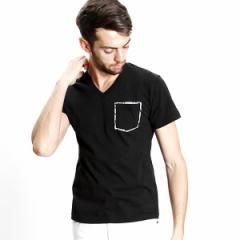 ナンバーナイン デニム(NUMBER(N)INE DENIM)/NUMBER (N)INE DENIM ポケット付VネックTシャツ