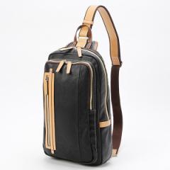 オティアス(Otias)/A4サイズ大きめアンティーク仕上げレザータイプ合皮ボディバッグ/ワンショルダーバッグ