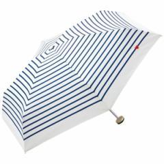 WPC/ハート刺繍ボーダー折りたたみ傘