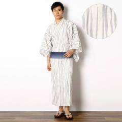 びさるの(浴衣)(Visaruno)/【アウトレット】ラクチン快適ゆかた(よろけストライプ)