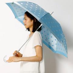プライベートレーベル(雑貨)(PRIVATE LABEL)/【長傘】ハート柄ジャガード雨傘(レディース)