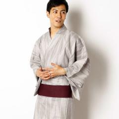 びさるの(浴衣)(Visaruno)/【ラクチン快適ゆかた】綿セットゆかた(矢羽ストライプ)/帯・ゆかたセット