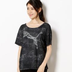 プーマ(PUMA)/【プーマ/PUMA】レディースフィットネスSSシャツ(ダンサードレーピー グラフィックTシャツ)