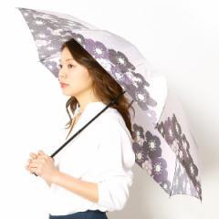 ランバン オン ブルー(雑貨)(LANVIN en Bleu)/雨傘(折りたたみ傘/3段/ミニ傘)花柄(婦人/レディース)