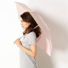 ビーサニー(BE SUNNY)/【雨晴兼用傘】ナチュラルドット(5段折りたたみ/レディース)