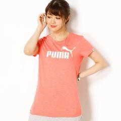 プーマ(PUMA)/【プーマ(PUMA)】レディースカジュアルSSシャツ(ESS NO.1 TEE HEATHER W)