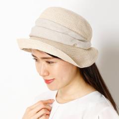 フルラ(ネックウェア・帽子)(FURLA)/【サイズ調整OK】手洗いできるUV麻ブレード小つばハット
