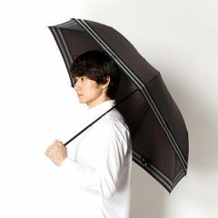 ランバン オン ブルー(雑貨)(LANVIN en Bleu)/雨傘(3段/折りたたみ/ミニ)ツイル先染めボーダー(メンズ/紳士)