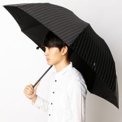 ポロ ラルフローレン(POLO RALPH LAUREN)/【カーボン骨使用】大寸雨傘(3段/折りたたみ/ミニ)ポニーマークワンポイント刺繍ストライ…