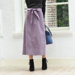 アールユー(ru)/【XXS〜7L】コーデュロイ素材 リボン付きAラインスカート