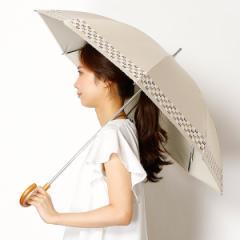 ミラ・ショーン(雑貨)(mila schon)/【スライドショート日傘】【遮光&UV遮蔽率99%以上/遮熱】ロゴボーダー 晴雨兼用