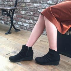 ヴェリココ(velikoko)/[ラクチンきれいブーツ]晴雨兼用ウェッジソールブーツ(5.5cmヒール)