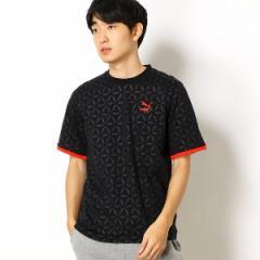 プーマ(PUMA)/【プーマ/PUMA】メンズカジュアルTシャツ(LUXE PACK AOP テープ SS Tシャツ)