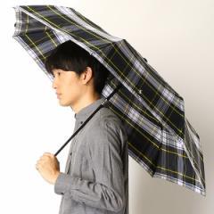 ポロ ラルフローレン(傘)POLO RALPH LAUREN(umbrella)/雨傘【自動開閉傘/チェック柄/グラス骨】(メンズ/紳士)