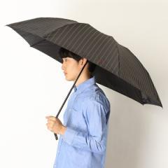 POLO RALPHLAUREN(ポロ ラルフローレン)(傘)/雨傘【手開きタイプ/折り畳み傘/朱子織りストライプ/グラス骨】(メンズ/紳士)