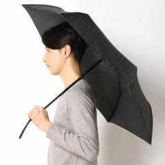 エクセルジェンツ(EXCEL GENT'S)/雨傘【折り畳み傘(3段)/ストライプ柄】【ジャンプ式自動開閉/らくらく開閉/骨のポキポキが不要…