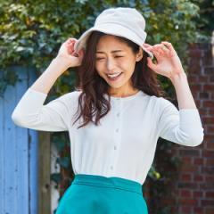 マルイの帽子(MARUI CAPS & HATS)/【選べる4サイズ・洗濯機OK・UV90%以上カット・たためる・サイズ調整可能】バックリボン帽子
