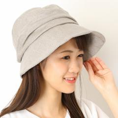 ナミキ(NAMIKI)/リネン ギャザーブルトン【サイズ調節】【レディース/帽子】