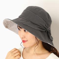 フルラ(ネックウェア・帽子)(FURLA)/【UV遮蔽率98%以上・サイズ調整OK・日本製】手洗いできる麻100%リボン広つばハット