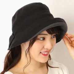 フルラ(ネックウェア・帽子)(FURLA)/【UV遮蔽率98%以上・サイズ調整OK・日本製】手洗いできる麻100% 後ろリボンハット