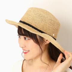 フルラ(ネックウェア・帽子)(FURLA)/【サイズ調整OK】ラフィア細編み 平天ハット/カンカン帽