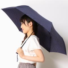 フロータス(FLO(A)TUS)/雨傘(3段/折りたたみ/スーパーミニ55)【超撥水/軽量/UVケア】ドット柄(ユニセックス)