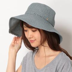 フルラ(ネックウェア・帽子)(FURLA)/【UV遮蔽率94.9%以上・サイズ調整OK】手洗いできるペーパーブレード パール調付き広つばハ…