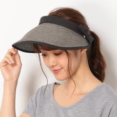 フルラ(ネックウェア・帽子)(FURLA)/【UV遮蔽率94%以上】ペーパーブレード リボンクリップサンバイザー