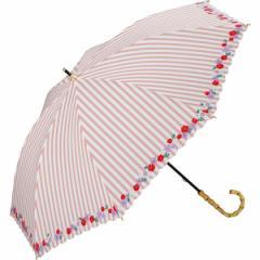 w.p.c(WPC)/日傘 晴雨兼用 長傘 ストライプフラワー(レディース/雨の日も使える)