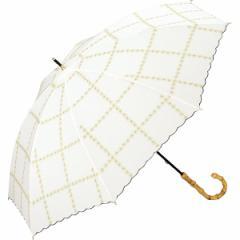 w.p.c(WPC)/日傘 晴雨兼用 長傘 ラインフラワー(レディース/雨の日も使える)