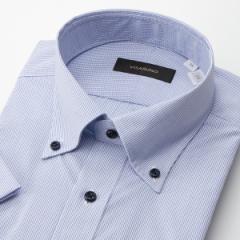 ビサルノ(VISARUNO)/(形態安定加工生地)[半袖ラクチンすっきりYシャツ]