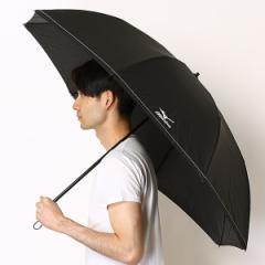 ミズノ(MIZUNO)/雨傘(2段/折りたたみ)【楽ー開閉/耐風/8本骨/テフロン】ステッチ無地(メンズ/紳士)