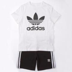 アディダス オリジナルス(adidas originals)/【アディダスオリジナルス】(キッズ)SHORT TEE SET  Tシャツ ハーフパンツ 上下…