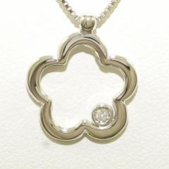 K18 18金 WG ホワイトゴールド ネックレス ダイヤ 中古ジュエリー