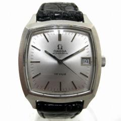 時計 オメガ デビル 自動巻き メンズ腕時計 スクエア シルバー文字盤【中古】