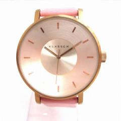 時計 CLASS14クオーツ ピンク 時計 腕時計 レディース【中古】