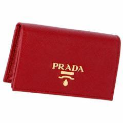 プラダ PRADA 1MC122 名刺入れ サフィアーノ カードケース レッド 1MC122 QWA 68Z