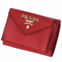 プラダ PRADA 2019年春夏新作 三つ折り財布 ミニ財布 レディース サフィアーノ レッド 1MH021 QWA 68Z